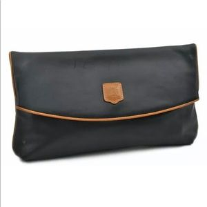 Celine Black Leather Clutch